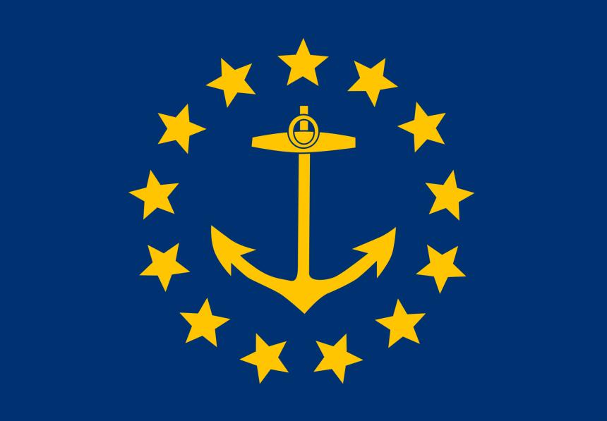 RI Flag Blue